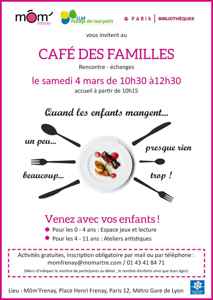 Quand les enfants mangent... - Café des familles - CLAP / MOM Frenay, Paris 12
