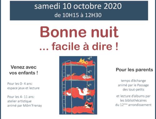 Café des familles – 10/ 2020